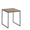 now! Beistell-Tisch CT 17-2, Tischplatte Kernnussbaum, Gestell pulverbeschichtet grau