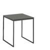 now! Beistell-Tisch CT 17-2, Tischplatte Lack-grau, Gestell pulverbeschichtet grau