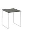 now! Beistell-Tisch CT 17-2, Tischplatte Lack-grau, Gestell pulverbeschichtet weiß