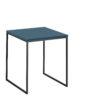 now! Beistell-Tisch CT 17-2, Tischplatte Lack-petrol, Gestell pulverbeschichtet grau