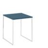 now! Beistell-Tisch CT 17-2, Tischplatte Lack-petrol, Gestell pulverbeschichtet weiß