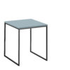 now! Beistell-Tisch CT 17-2, Tischplatte Lack-taubenblau, Gestell pulverbeschichtet grau