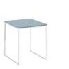 now! Beistell-Tisch CT 17-2, Tischplatte Lack-taubenblau, Gestell pulverbeschichtet weiß