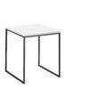 now! Beistell-Tisch CT 17-2, Tischplatte Lack-weiß, Gestell pulverbeschichtet grau
