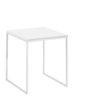 NOW! Beistelltisch CT 17-2 Tischplatte Lack-weiß, Gestell pulverbeschichtet weiß