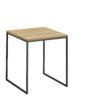 now! Beistell-Tisch CT 17-2, Tischplatte Natureiche, Gestell pulverbeschichtet grau
