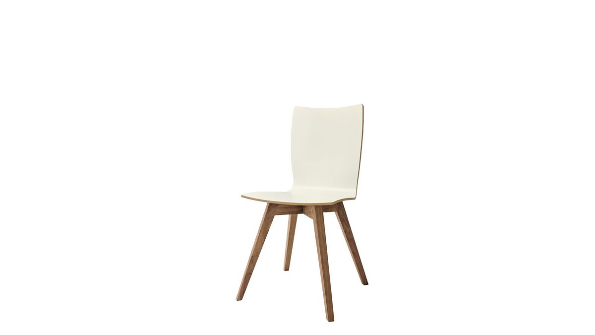 4 Farben kernnussbaumfarbigSchale 3 in Stuhl erhältlich S aus Massivholz 20 nowdining Gestell Esche DHE9W2IY