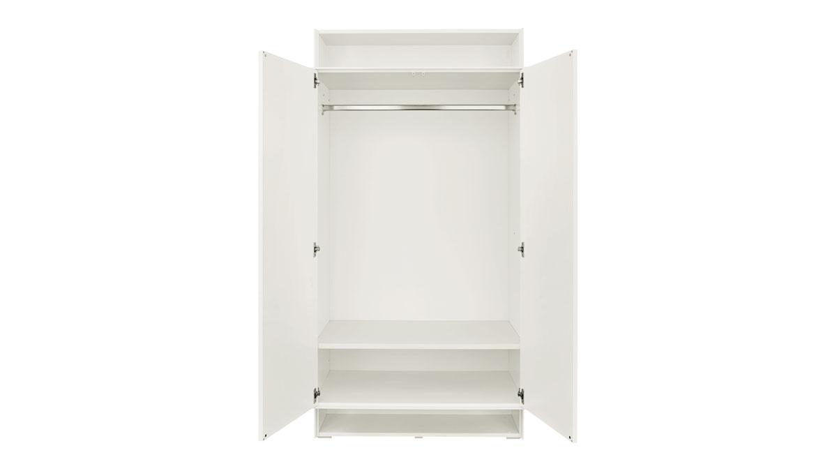 now! easy Kleiderschrank (2 Türen, 1 Einlegeboden, 1 Kleiderstange)