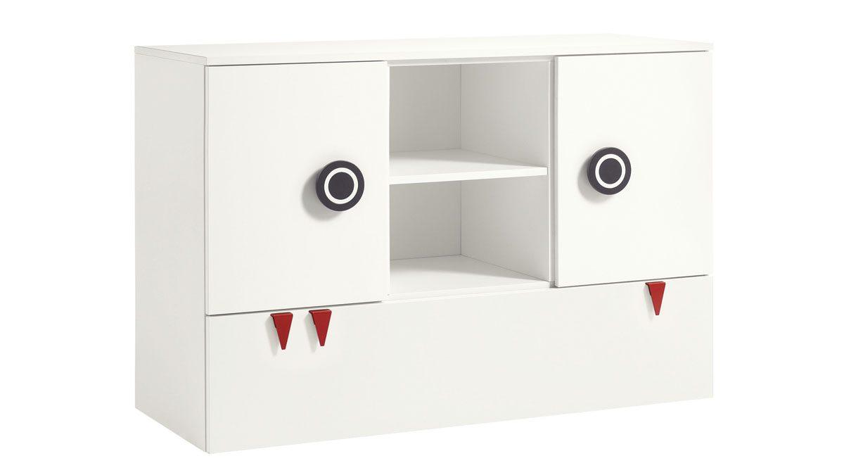 now! minimo Kommode mit 2 Türen, 1 Schublade und 1 offenes Fach
