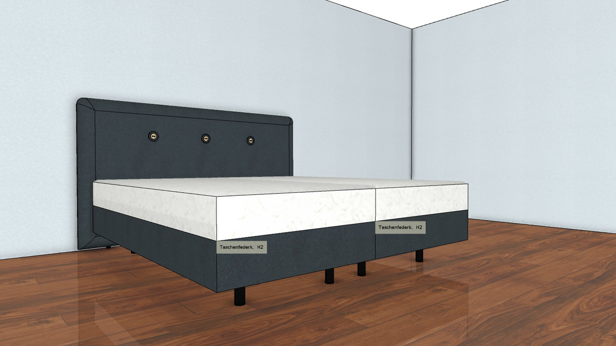 h lsta now boxspring bett a 160 x 200 cm ber 40 bez ge aktion. Black Bedroom Furniture Sets. Home Design Ideas