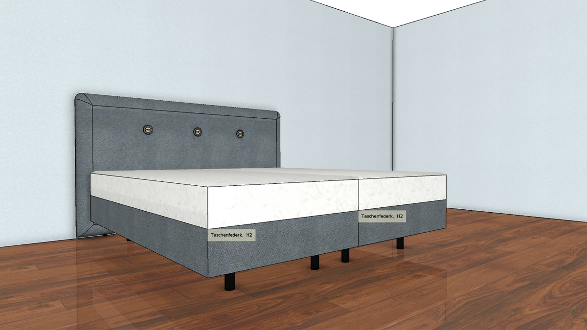 h lsta now boxspring bett a 160 x 200 cm ber 40 bez ge. Black Bedroom Furniture Sets. Home Design Ideas