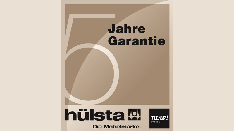 5-Jahres-Garantie von now! by hülsta - Bitte dazu die Hintergrundinformationen lesen