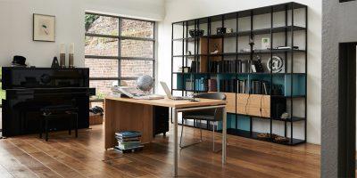 now! vision Home Office Paket (Schreibtisch + Stuhl + Regal)
