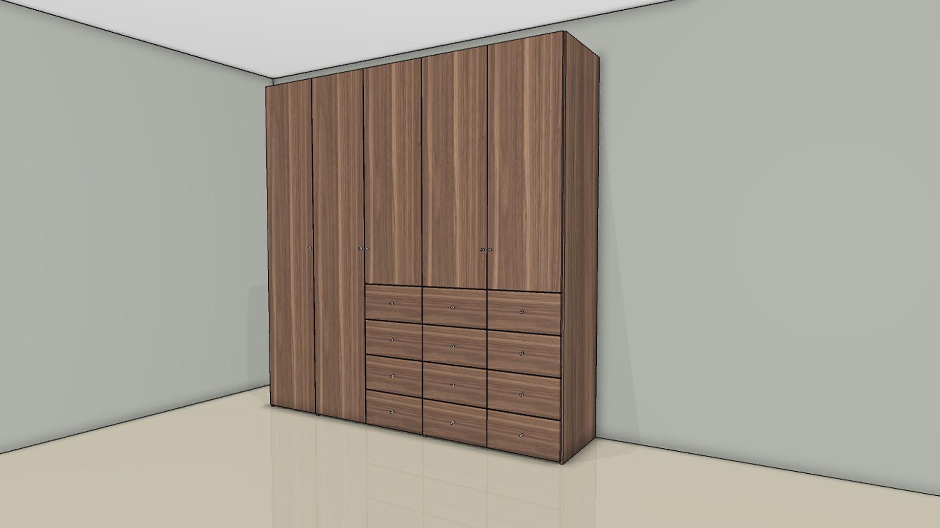 h lsta now flexx kleiderschrank 980505 18 verschied looks h225 4 x b. Black Bedroom Furniture Sets. Home Design Ideas