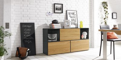 [Aktion:] now! to go Vorschlagskombination mit 5 Boxen *Sideboard* (Front Natureiche)