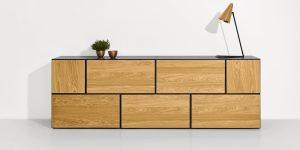 now! to go Vorschlagskombination mit 7 Boxen *Sideboard* (Front Natureiche)