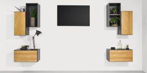 now! to go Vorschlagskombination mit 7 Boxen *moderne Wohnwand-Interpretation* (Front Natureiche) (Kopie)