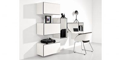 now! to go Vorschlagskombination mit 7 Boxen *Home-Office-Lösung* (Lack-Hochglanz-reinweiß)