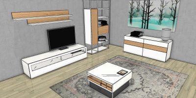 now! vision Bundle 1: Wohnzimmer-Einrichtung bestehend aus verschiedenen now! vision-Möbeln zum Spar-Preis