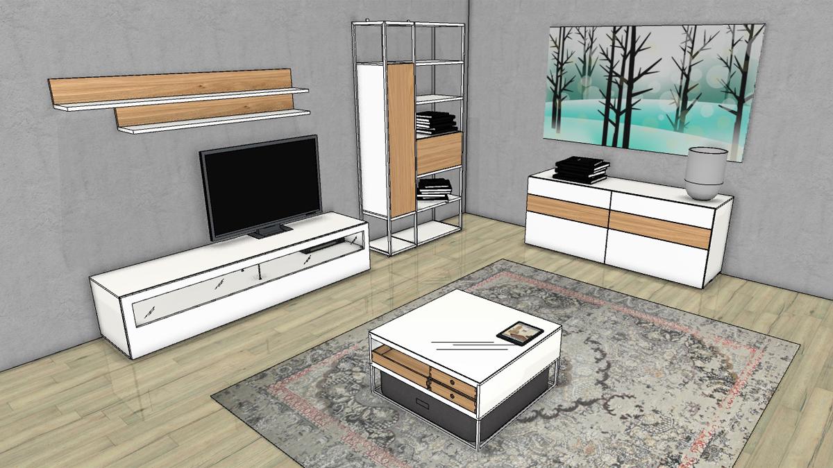 Now! Vision Bundle 1: Wohnzimmer Einrichtung Bestehend Aus Verschiedenen  Now! Vision