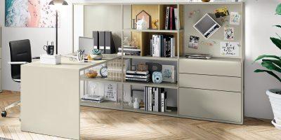 hülsta NOW! VISION Regalkombination mit Schreibtisch – verschiedene Designs möglich!
