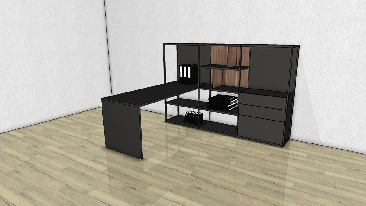 schreibtisch regal kombi schreibtisch bente tisch regal schreibtisch kombi in wei regal. Black Bedroom Furniture Sets. Home Design Ideas