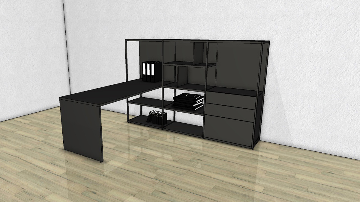 schreibtisch regal kombi schreibtisch bente tisch regal schreibtisch kombi in wei schreibtisch. Black Bedroom Furniture Sets. Home Design Ideas