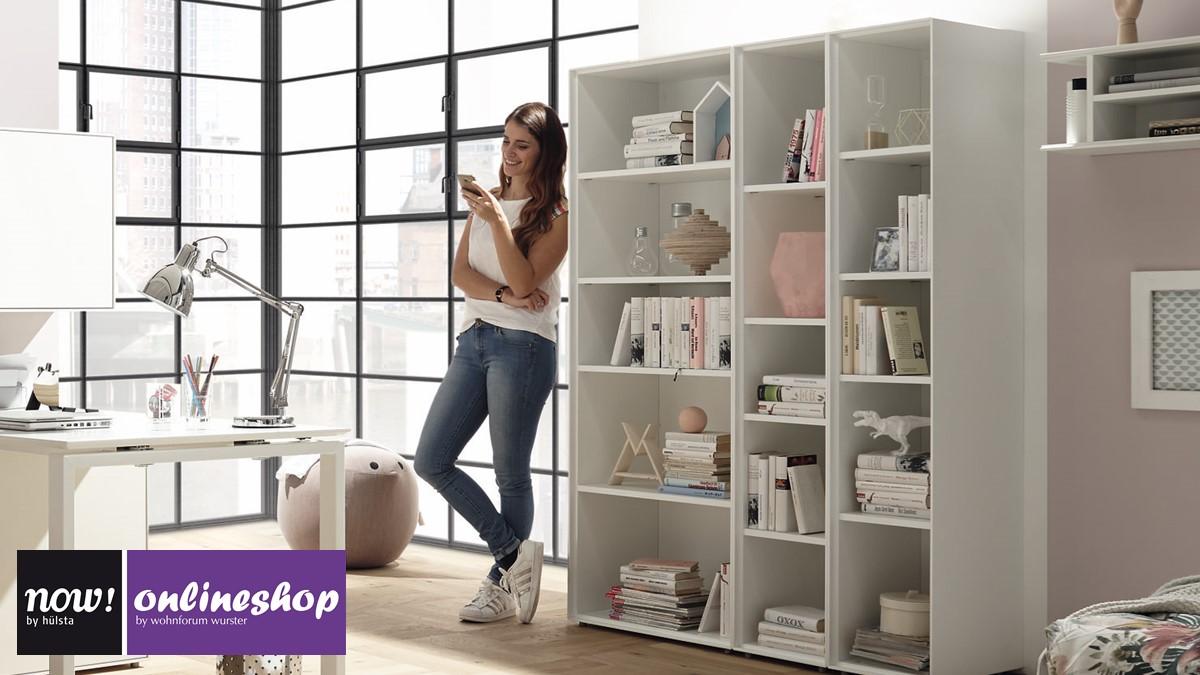 h lsta now easy regal set bestehend aus 3 regal modulen 980143. Black Bedroom Furniture Sets. Home Design Ideas