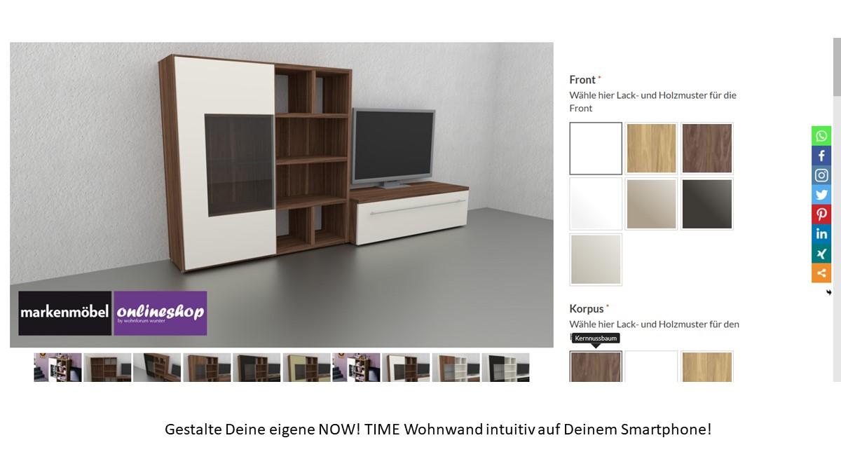 Bestelle die hülsta NOW! TIME Wohnwand #980007 alternativ in unserem neuen noch intuitiveren Markenmöbel-Onlineshop