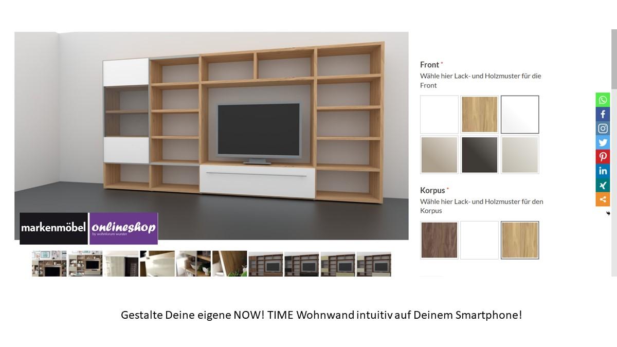 Bestelle die hülsta NOW! TIME Wohnwand #980009 alternativ in unserem neuen noch intuitiveren Markenmöbel-Onlineshop