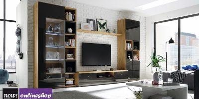 hülsta NOW! TIME Wohnwand #990010 – 19 Designs – ca. H216,2 x B371,3 x T50cm
