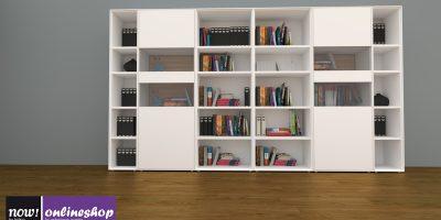 hülsta NOW! EASY Bücherwand mit 3 versch. Akzenten ca. H179,2 x B320  X T44,8 cm