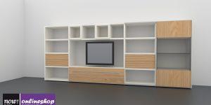 hülsta NOW! TIME Wohnwand #980010 – 19 Designs – H145,8 x B352,9 x T 40cm
