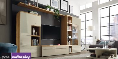 hülsta NOW! TIME Wohnwand #990009 – 19 Designs – ca. H181 x B318 x T50 cm