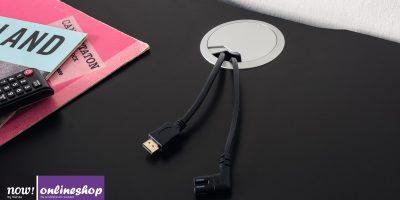 Kabeldurchlass für Abdeckplatte von now! vision Lowboards (mehrfach möglich)