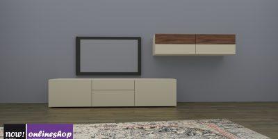 hülsta NOW! VISION Wohnwand mit Holz-Akzent in 6 verschiedenen Farb-Designs