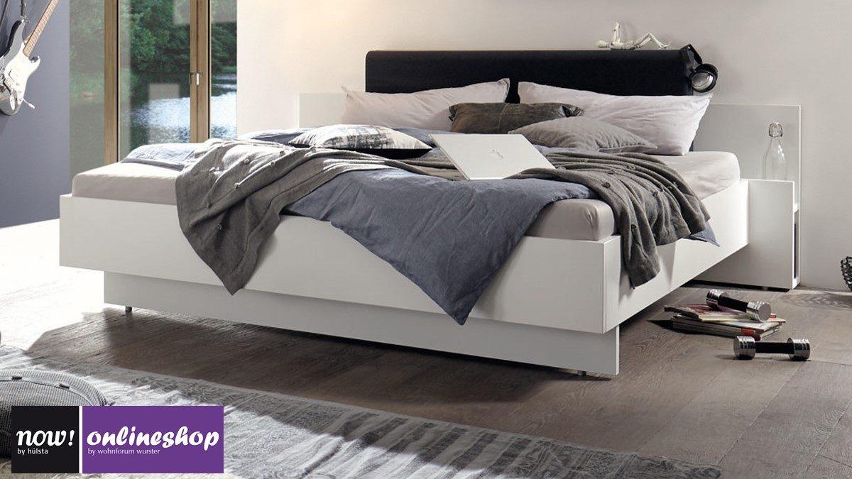 hülsta NOW! BASIC Bett - in versch. Maßen und mit 13 versch.  Polsterkopfteil-Farben