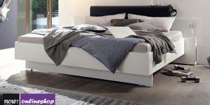 hülsta NOW! BASIC Bett – in versch. Maßen und mit 2 versch. Polsterkopfteil-Farben