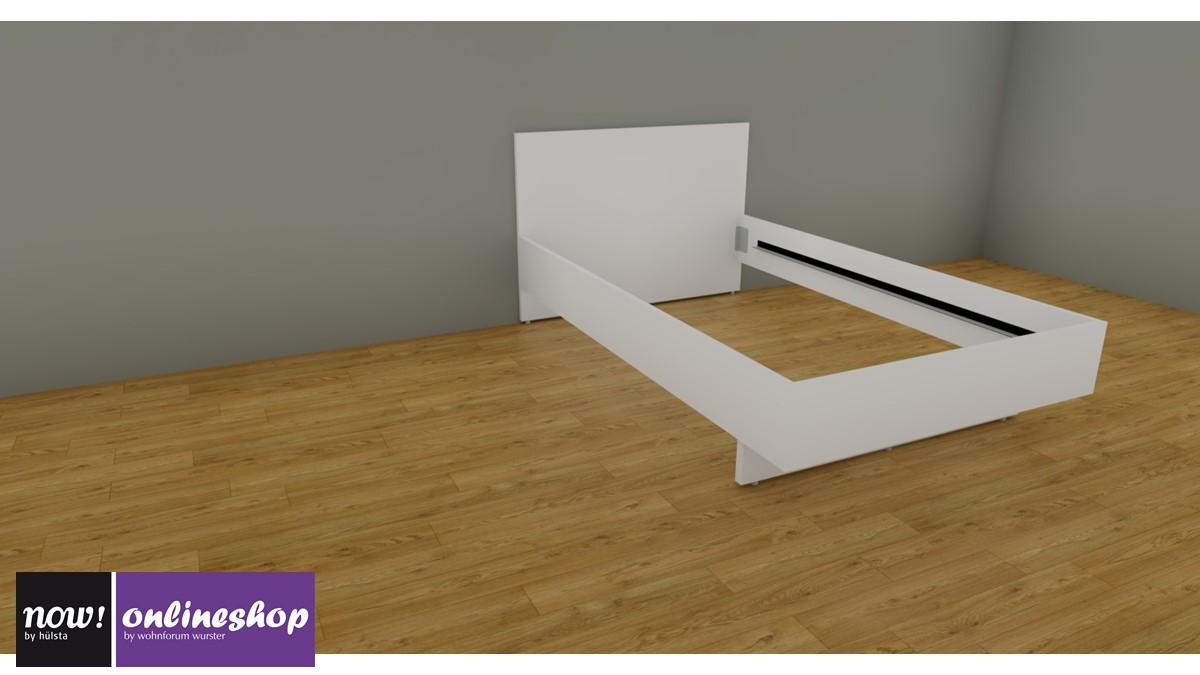 hülsta NOW! BASIC Bett mit Holzkopfteil - 120 / 140 / 160 / 180 / 200 -