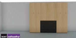 hülsta NOW! FLEXX Kleiderschrank #980501, 15 versch. Designs! – H225,4 x B282 x T61 cm