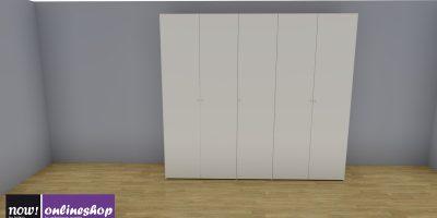 hülsta NOW! FLEXX Vorzugs-Kleiderschrank #990004 – 4 versch. Looks – H225,4 x B252 x T61 cm