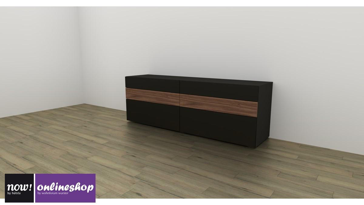 now vision sideboard 1423 mit 6 schubladen. Black Bedroom Furniture Sets. Home Design Ideas