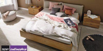 hülsta NOW! NO.14 Vorzugs-Bett (180×200 cm) MIT 2 Konsolen in 6 versch. Designs