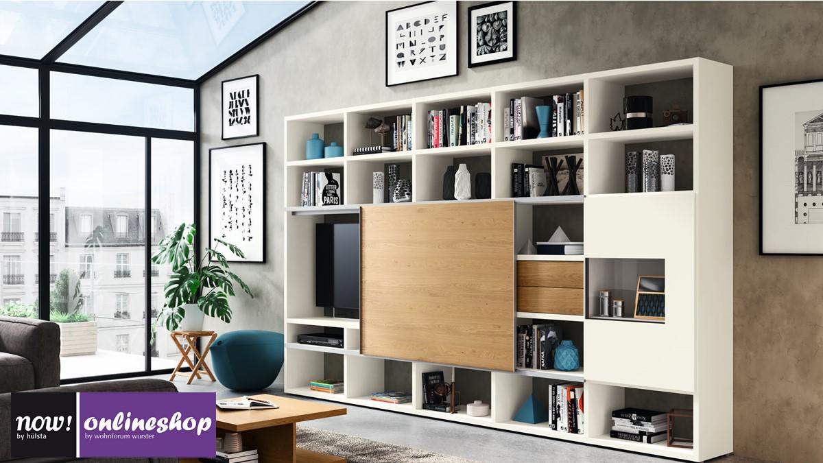 hülsta NOW! TIME Wohnwand #10 - Bestseller in der Sonderedition: 10  Designs möglich!