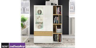 hülsta NOW! VISION Vitrine #980006 in versch. Designs, ca. H140,8 x B105,8 x T42 cm
