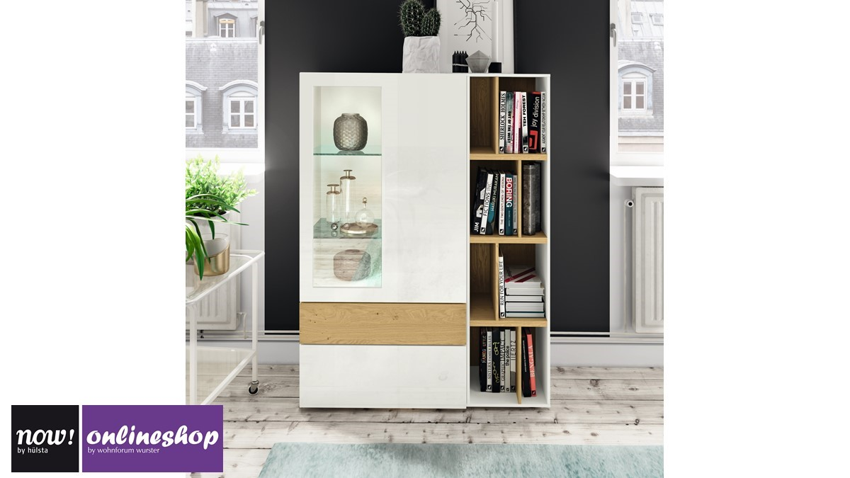 h lsta now vision vitrine 980006 in versch designs ca. Black Bedroom Furniture Sets. Home Design Ideas