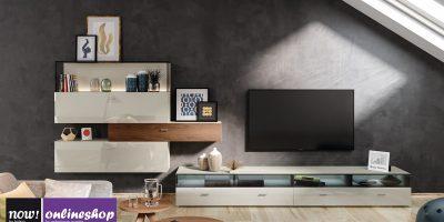 hülsta NOW! NO. 14 Wohnwand #980017 / #981017 (gespiegelt) – jetzt aus vielen Designs wählen!