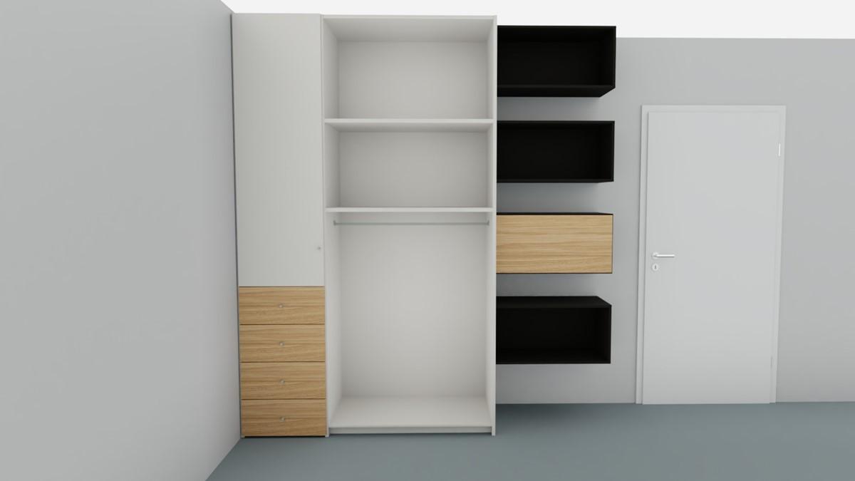 Hulsta Now Flexx Offener Kleiderschrank No 3 Mit Holz Akzent