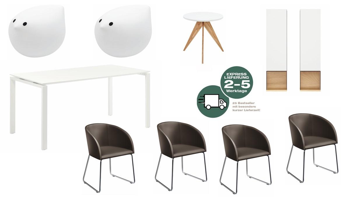 Das NOW! 25 Minimal Living Bundle besteht aus diesen abgebildeten NOW!25 Möbeln
