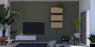 NOW! 25 Urban Jungle Wohnzimmer-Kombination von Daniel Dombrovsky